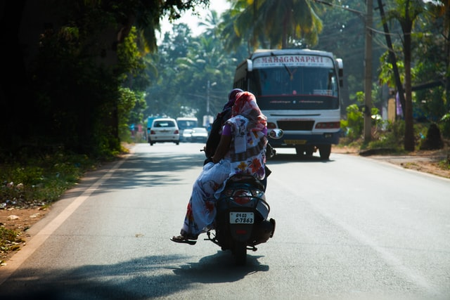 scooter driving